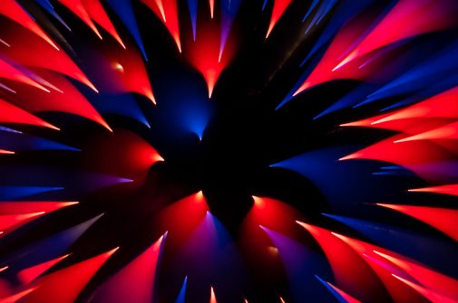 An abstract photo of a firework at Navy Pier