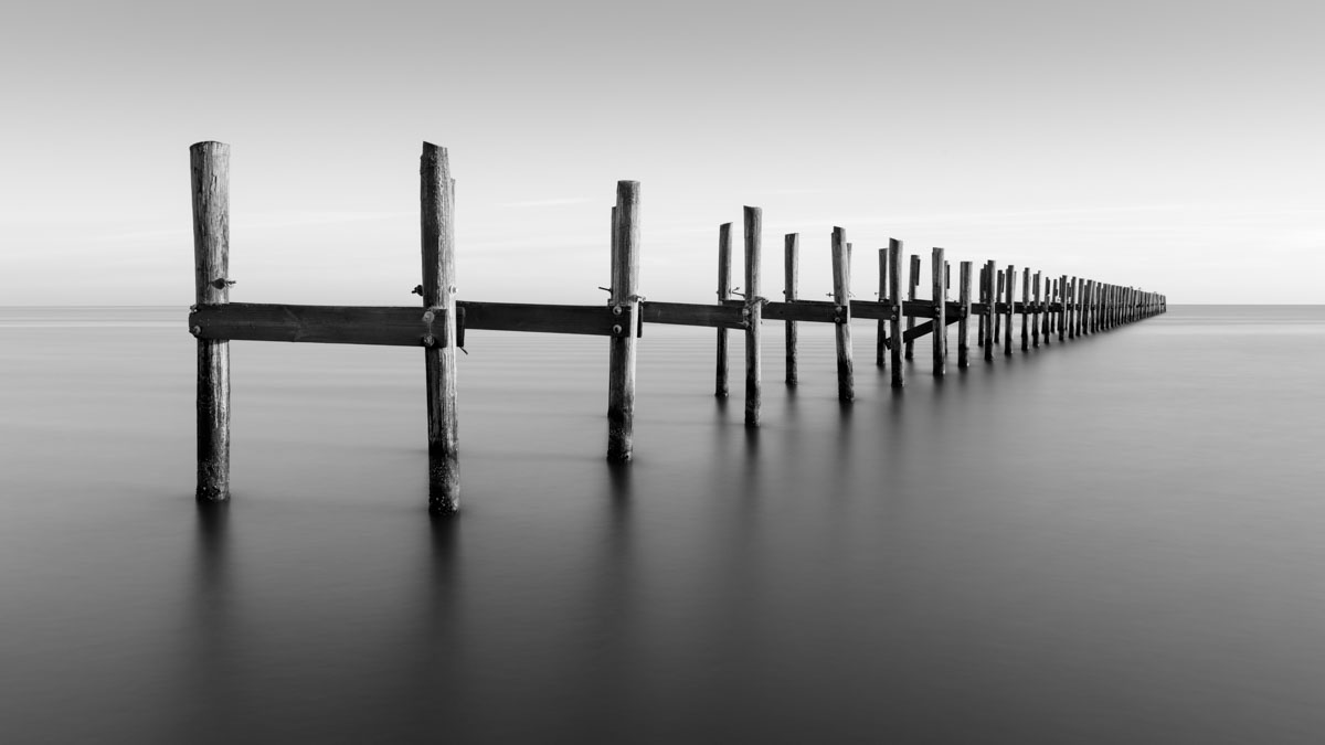 A long exposure of a pier in Biloxi, Mississippi