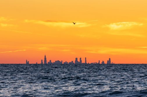 A view of the Chicago Skyline from Indiana Dunes