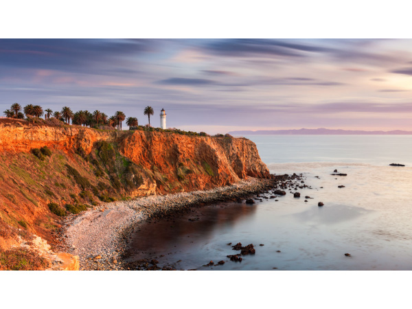 Sunset at the Point Vicente Lighthouse in Palos Verdes, California